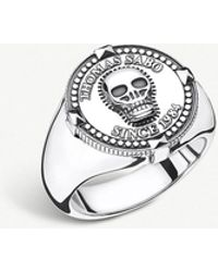 Thomas Sabo - Since 1984 Skull Sterling Silver Signet Ring - Lyst