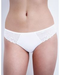 Simone Perele - Délice Embroidered Stretch-tulle Thong - Lyst
