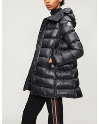 Moncler Suyen Goose Down And Feather-filled Padded Shell Coat - Black