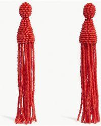 Oscar de la Renta - Beaded Tassel Earrings - Lyst