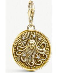 Thomas Sabo - Virgo Gold-plated Zodiac Charm - Lyst