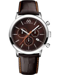 88 Rue Du Rhone - 87wa154211 Double 8 Origin Stainless Steel And Leather Watch - Lyst