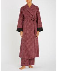 YOLKE - Paisley-print Cotton Dressing Gown - Lyst