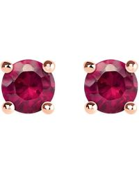 Thomas Sabo - Glam And Soul Red Stone Large Sterling Silver And 18k Rose-gold Plated Earrings - Lyst