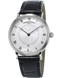 Frederique Constant - Fc-306mc4s36 Slimline Classics Automatic Stainless Steel And Alligator-leather Watch - Lyst