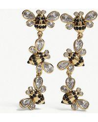 Kate Spade - Picnic Perfect Bee Drop Stud Earrings - Lyst