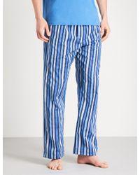 Derek Rose - Striped Cotton Pyjama Bottoms - Lyst