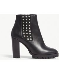 The Kooples - Studded Heeled Leather Ankle Boots - Lyst