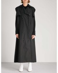 Maison Margiela - Double-breasted Cotton-poplin Trench Coat - Lyst