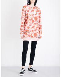 A Bathing Ape - Abc Camo-print Longline Cotton-jersey Sweatshirt - Lyst