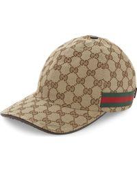 Gucci - Logo Print Baseball Cap - - Lyst