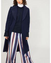 Claudie Pierlot - Guy Belted Wool-blend Coat - Lyst