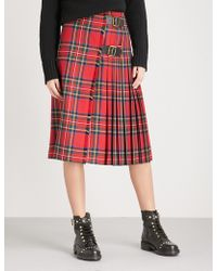 Burberry - Taybridge Wool Skirt - Lyst
