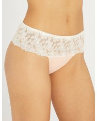 Aubade - Hot Tanga Lace And Tulle Briefs - Lyst