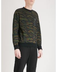 The Kooples - Camouflage-print Cotton-jersey Sweatshirt - Lyst