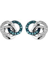 Links of London - Treasured Silver And Diamond Stud Earrings - Lyst