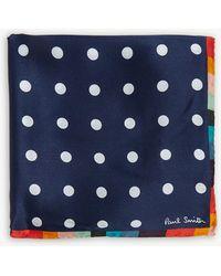 Paul Smith - Artist Stripe Polka Dot Print Silk Pocket Square - Lyst