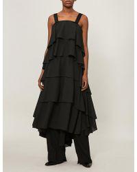 Aganovich - Ruffled Silk Dress - Lyst