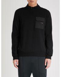 Prada - Pocket-embellished Wool Jumper - Lyst