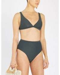 Asceno - Textured Triangle Bikini Top - Lyst