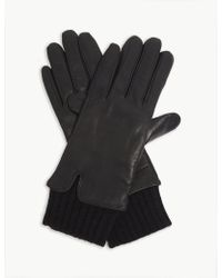Sandro - Gery Leather Gloves - Lyst