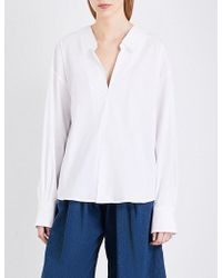 Miharayasuhiro - Contrast-back Cotton-blend Top - Lyst