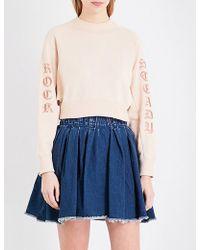 Miharayasuhiro - Rock Steady Cotton-jersey Sweatshirt - Lyst