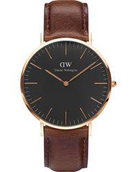 Daniel Wellington - Classic Bristol Rose Gold Watch - Lyst
