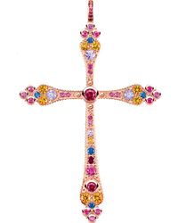 Thomas Sabo - Royalty Cross 18ct Rose Gold-plated Pendant - Lyst