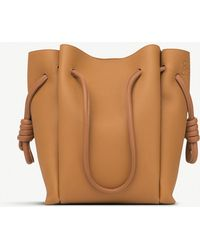Loewe - Light Caramel And Tan Brown Flamenco Knot Small Leather Bag - Lyst