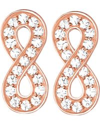 Thomas Sabo | Glam & Soul Infinity 18ct Rose Gold-plated And Zirconia Earrings | Lyst