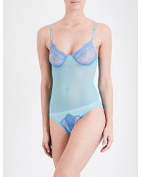 Only Hearts - Whisper Sweet Nothings Coucou Mesh Bodysuit - Lyst