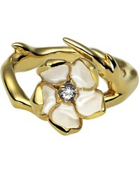 Shaun Leane - Sterling Silver Gold Vermeil Single Blossom Ring - Lyst
