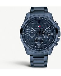 Tommy Hilfiger - 1791560 Decker Coated Stainless Steel Chronograph Watch - Lyst