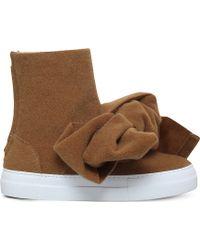 Joshua Sanders - Bow Bomb Felt Ankle Boots - Lyst