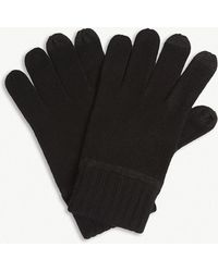 BOSS - Gritz Knitted Wool-blend Gloves - Lyst