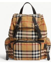 Burberry - Vintage Check Small Rucksack - Lyst