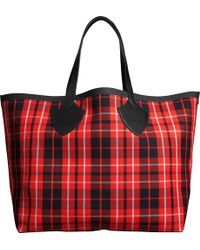 Burberry - Tartan Cotton-canvas Extra-large Reversible Tote - Lyst