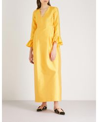 Merchant Archive - Frilled-cuffs Woven Tulip Gown - Lyst