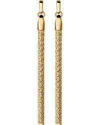 Links of London - Essentials 18ct Yellow-gold Vermeil Silk Row Earrings - Lyst
