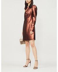 Victoria, Victoria Beckham - One-sleeved Metallic-lurex Dress - Lyst