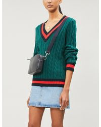 Claudie Pierlot - Mistral Cable-knit Cotton And Wool-blend Jumper - Lyst