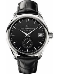 Carl F. Bucherer - 00.10917.08.33.01 Manero Peripheral Stainless Steel And Alligator Leather Watch - Lyst