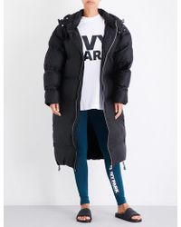 Ivy Park - Longline Bonded Shell Puffer Coat - Lyst