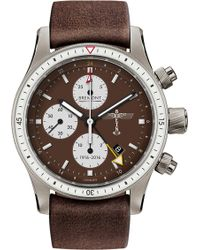 Bremont - Bb100 Boeing 100 Titanium And Leather Chronograph Watch - Lyst