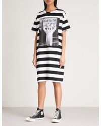 Mini Cream - Striped Cotton-jersey Dress - Lyst
