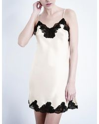 Nk Imode - Morgan Silk-satin And Lace Chemise - Lyst