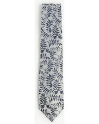 Duchamp - Tropical Floral Print Silk Tie - Lyst