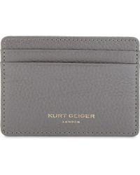 Kurt Geiger - Crocodile-embossed Leather Cardholder - Lyst