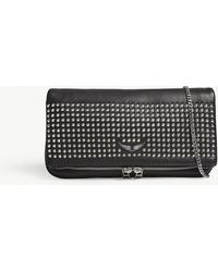 Zadig & Voltaire - Rock Spike Leather Clutch Bag - Lyst